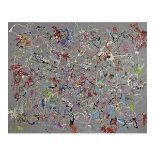 Michael Karr Large Abstract Expressionist Acrylic on Canvas Painting