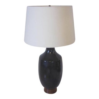 Mid-Century Pottery Table Lamp For Sale