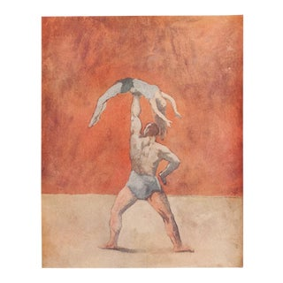 "1948 Pablo Picasso ""Acrobats"" Original Period Parisian Lithograph With C. O. A. For Sale"