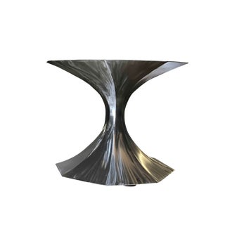 Invictus Steelworks Saarinen Style Handmade Tulip Table For Sale