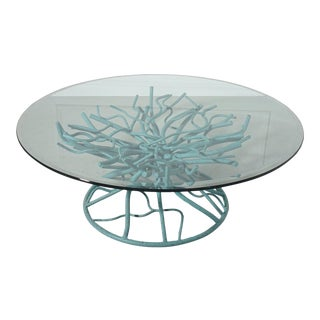 Vintage Faux Coral Coffee Table For Sale