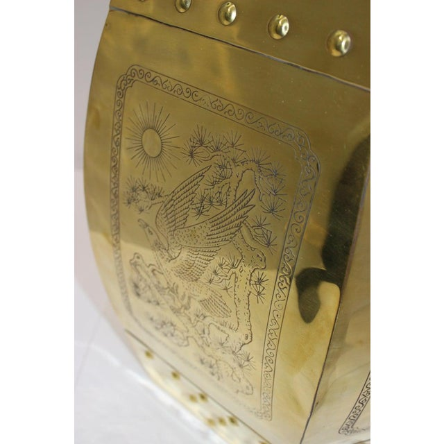 Gold Mid-Century Chinese Brass Garden Seat Stool For Sale - Image 8 of 13