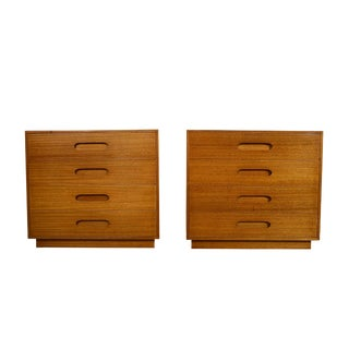 1950s Mid Century Modern Harvey Probber Mahogany Dressers - a Pair For Sale