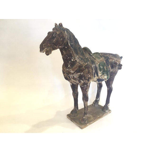 Hand Carved Painted Wooden Horse - Image 3 of 7