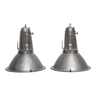 XXL Vintage Philips Industrial Lamps - A Pair For Sale