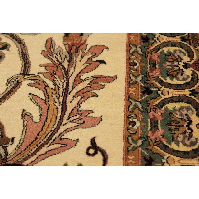 Textile Art Nouveau Bhati Pak-Persian Zelda Ivory/Pink Wool Rug - 4'1 X 6'7 For Sale - Image 7 of 8
