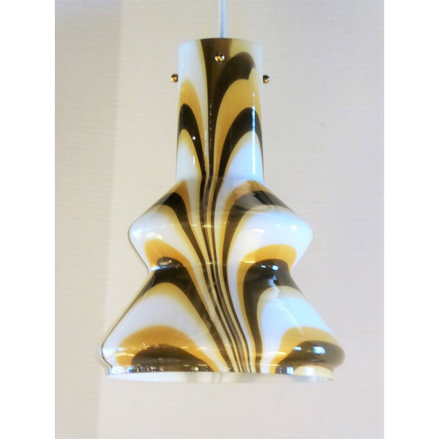 1960s Modern Swirl Blown Glass Pendant For Sale - Image 11 of 11