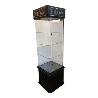 Tall Bulova Lighted Display Case