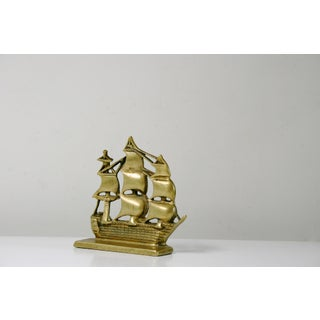 Brass Pirate Ship Bookend Preview