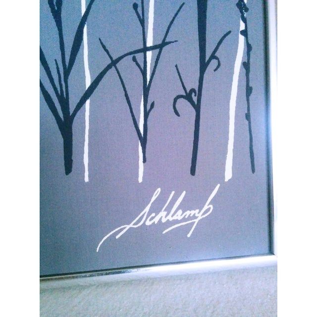 Boho Chic Marushka Style High Contrast Sunset Boho Modern Vaporwave Screen Print For Sale - Image 3 of 4