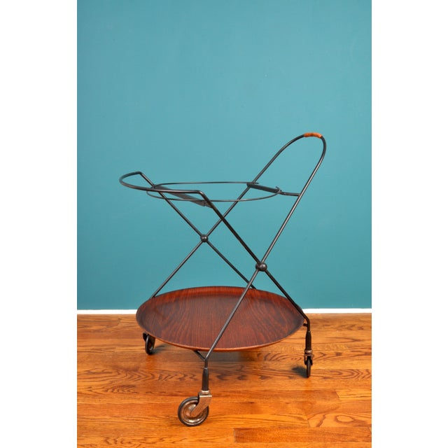 1950s Collapsible Bar Cart, Sweden 1950s For Sale - Image 5 of 11