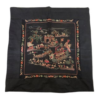 """Hand Embroidered """"100 Children Playing in Spring"""" Chinese Silk Textile For Sale"""