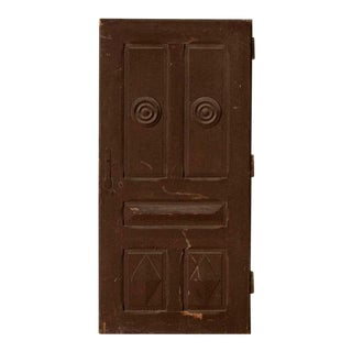 Antique Brown Painted Vintage Door For Sale