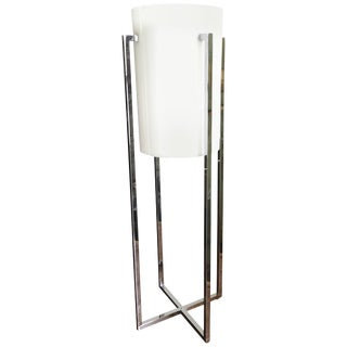 Sonneman Chrome Lucite X-Base Table Lamp