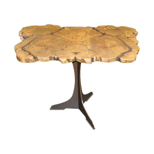 Customizable Book Matched Banyan Table - Image 1 of 6