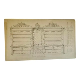 Hand Drawn Architectural Rendering by Henry Zander (1869-1914) Jewelry Display For Sale