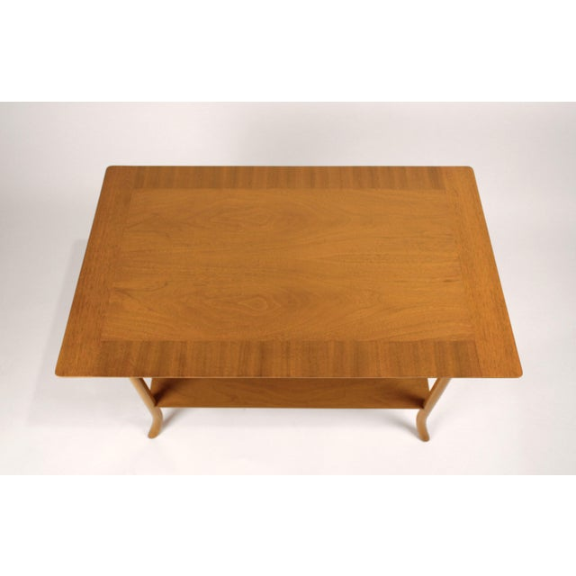 Hollywood Regency t.h. Robsjohn Gibbings Bleached Mahogany Sabre Leg Side Tables for Widdicomb - A Pair For Sale - Image 3 of 9