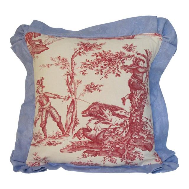 Antique 1880s Don Quixote Scene Toile Pillow For Sale