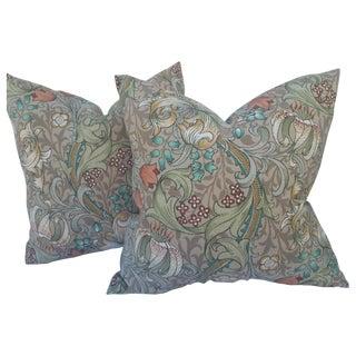 Linen William Morris Golden Lily Pillows