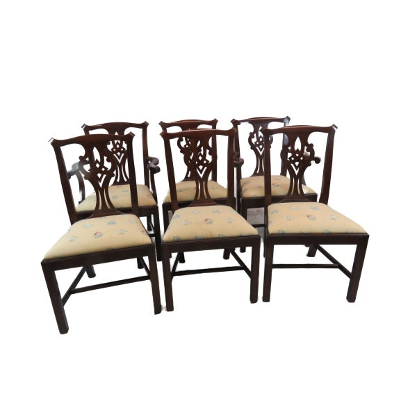 Henkel Harris Chippendale Dining Mahogany Chairs Model 101 - Set of 6 For Sale - Image 13 of 13