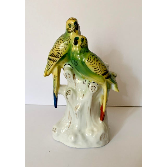 Green Japanese Porcelain Painted Bird Bud Vase For Sale - Image 8 of 8