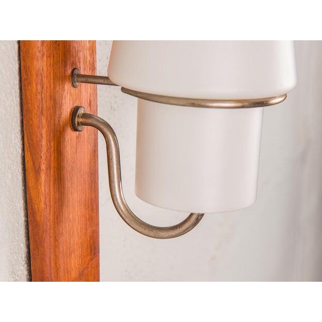 Glass Danish Modern Vertical Sconce Light For Sale - Image 7 of 10
