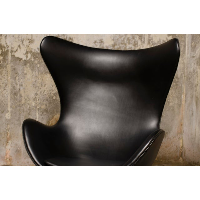 1960s 1960s Vintage Arne Jacobsen Egg Chair and Ottoman For Sale - Image 5 of 8