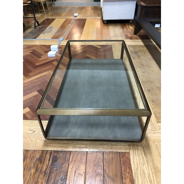 New Four Hands Bentley Shagreen Shadow Box Coffee Table For Sale - Image 4 of 11
