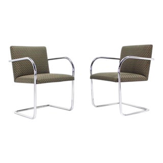 Mies Brno Side Office Dining Chairs for Knoll - a Pair For Sale