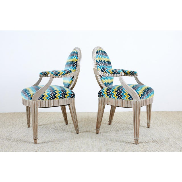 Late 20th Century John Hutton for Donghia Silvered Dining Chairs - Set of 10 For Sale - Image 10 of 13