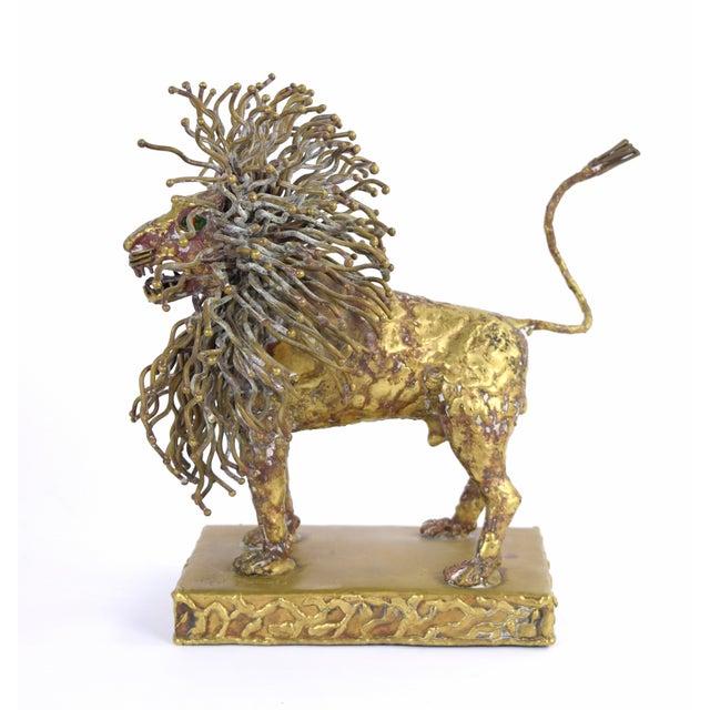 Pal Kepenyes Modernist Brutalist Brass Lion Sculpture Mexican Hungarian Artist For Sale - Image 4 of 10
