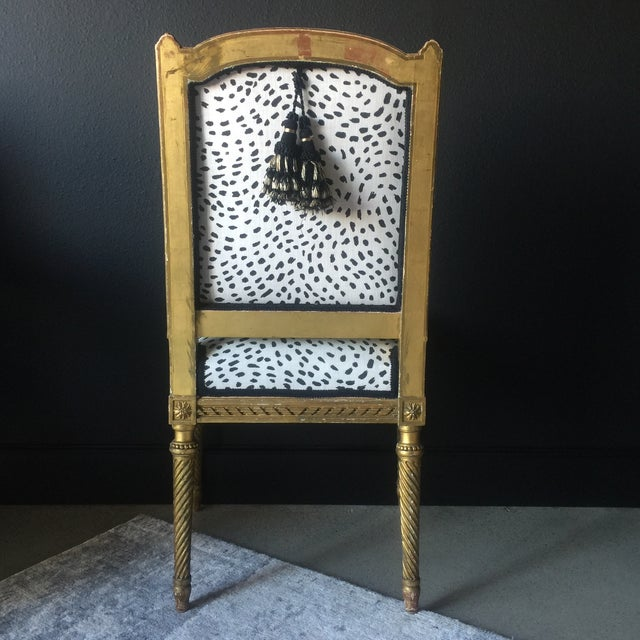 Late 19th Century Gilt Antique Side Chair For Sale - Image 5 of 7