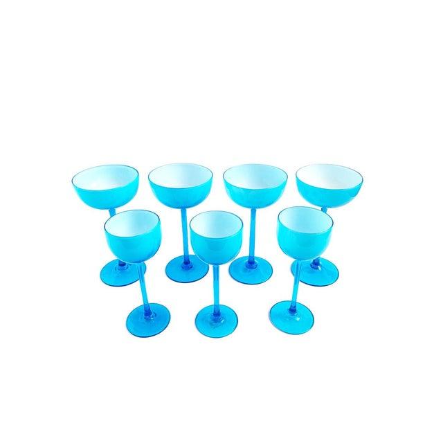Carlo Moretti Vintage Carlo Moretti Turquoise Blue Set of 13 Glasses - Set of 13 For Sale - Image 4 of 6