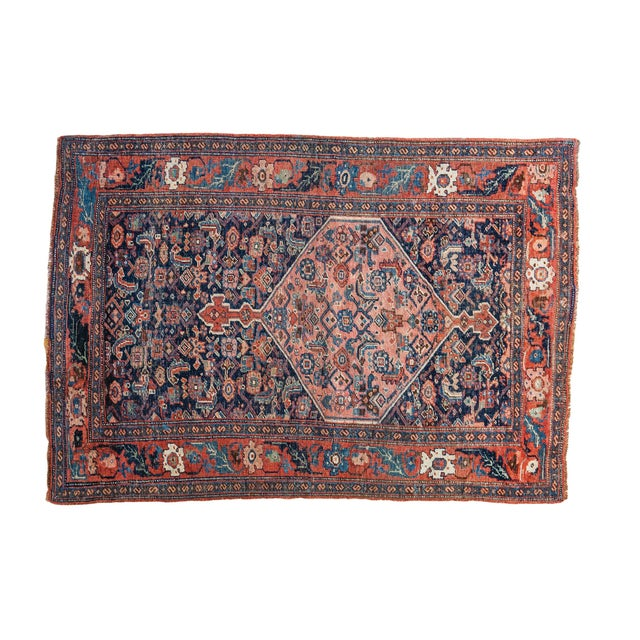 """Antique Persian Bijar Rug - 3'1"""" x 4'6"""" - Image 1 of 5"""