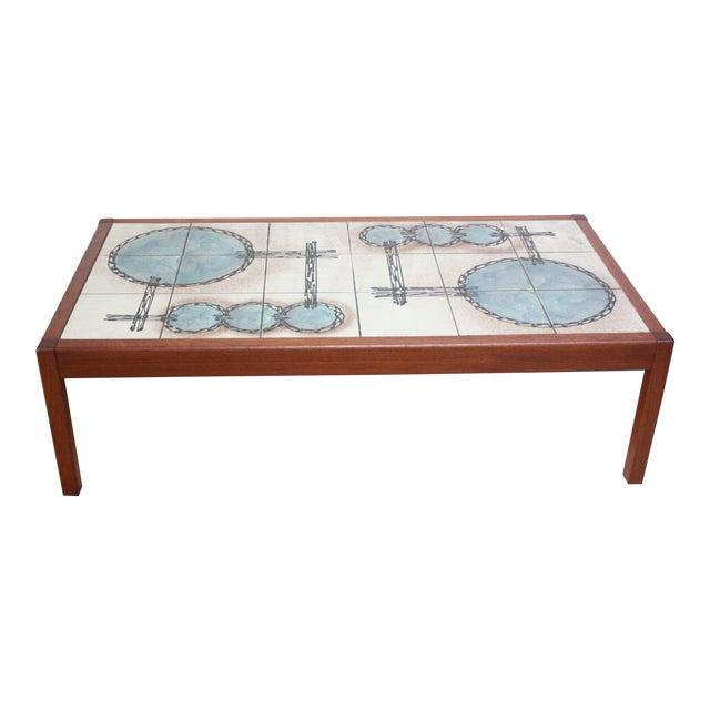 Vintage Teak And Ceramic Tile Top Coffee Table By Gangsø Møbler For