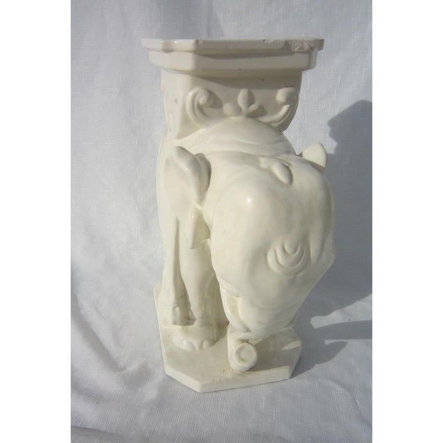 Ceramic Elephant Garden Stool - Image 4 of 6