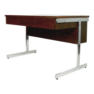 Mid-Century Modern Lane Rosewood and Chrome Compartment Desk