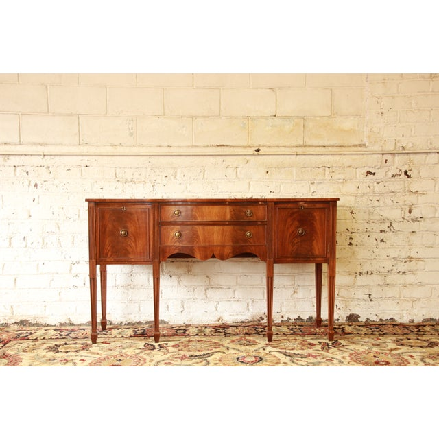 Federal Style Flame Mahogany Sideboard - Image 11 of 11