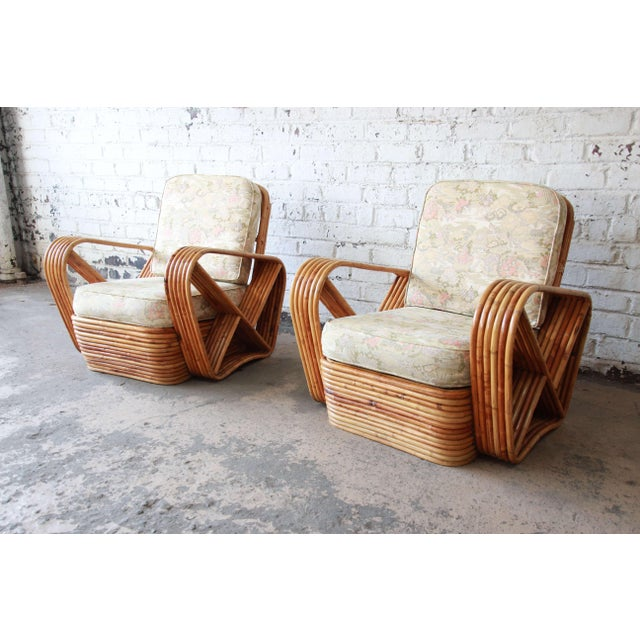 Asian Bamboo Pretzel Chairs Attributed to Paul Frankl - A Pair For Sale - Image 3 of 10