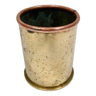 World War II Trench Art Brass Shell Casing Vase For Sale