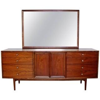 Mid-Century Modern Kipp Stewart Drexel Declaration Walnut Dresser Credenza For Sale