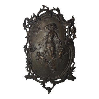 Art Nouveau Bronze French Plaque
