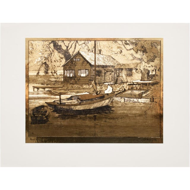 American Classical Gold-Etch Prints, Set of 4 For Sale - Image 9 of 13