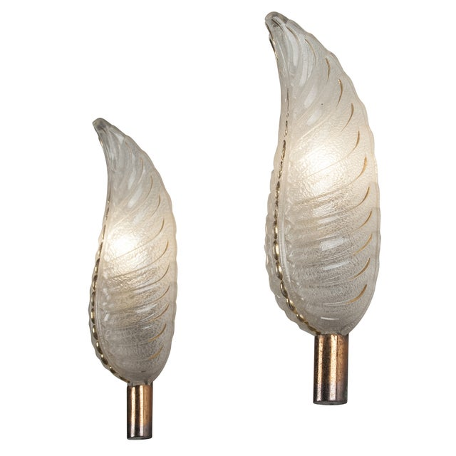 French Ezan Leaf Sconces- A Pair - Image 6 of 8