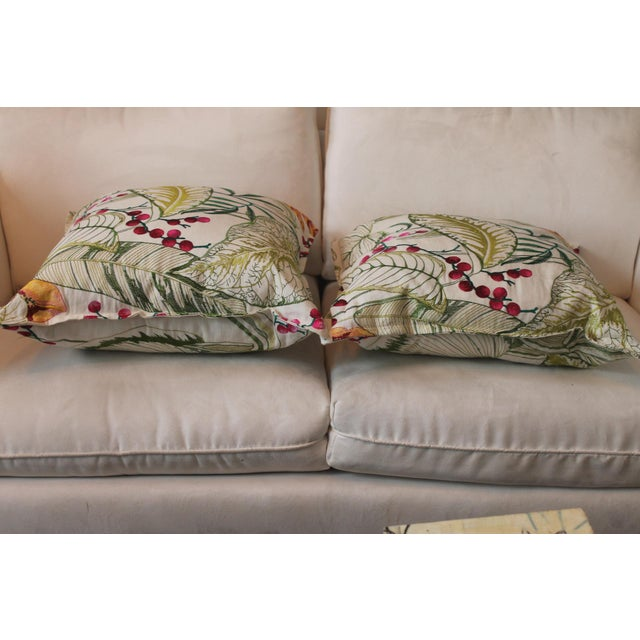 Contemporary Osborne & Little Sumatra Fabric Pillows - A Pair For Sale - Image 3 of 8