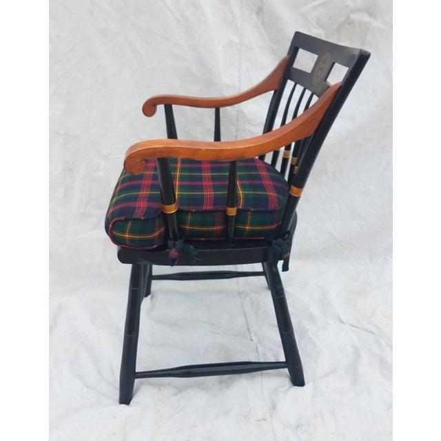 Wood Harvard University Veritas Nichols & Stone Captain's Chair For Sale - Image 7 of 12