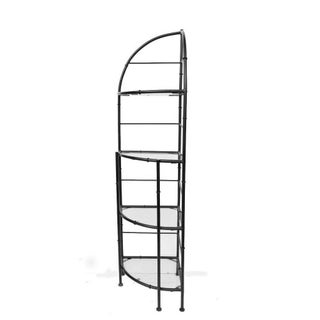 Hollywood Regency Metal Faux Bamboo Corner Stand Bakers Rack Kitchen Etagere Preview