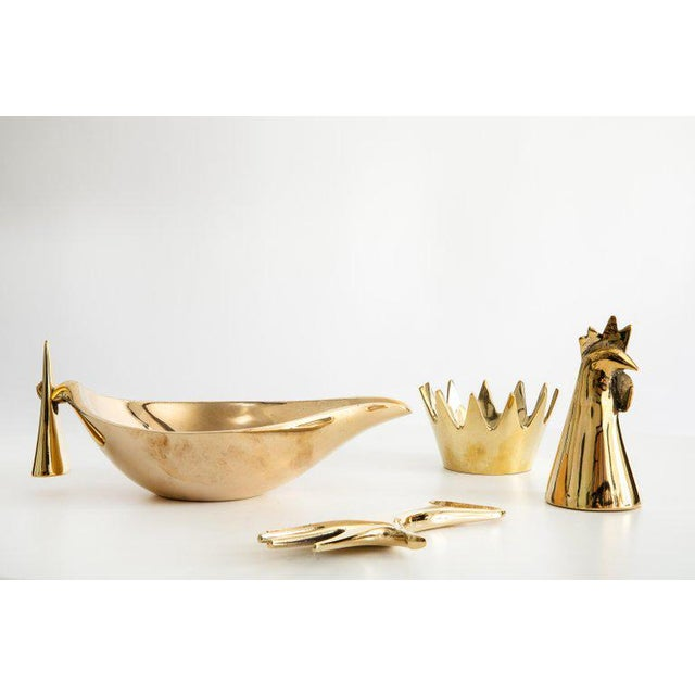 Mid-Century Modern Mid-Century Modern Carl Auböck Brass Objects - Set of 4 For Sale - Image 3 of 13