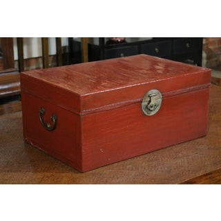 Chinese Red Leather Trunk Preview