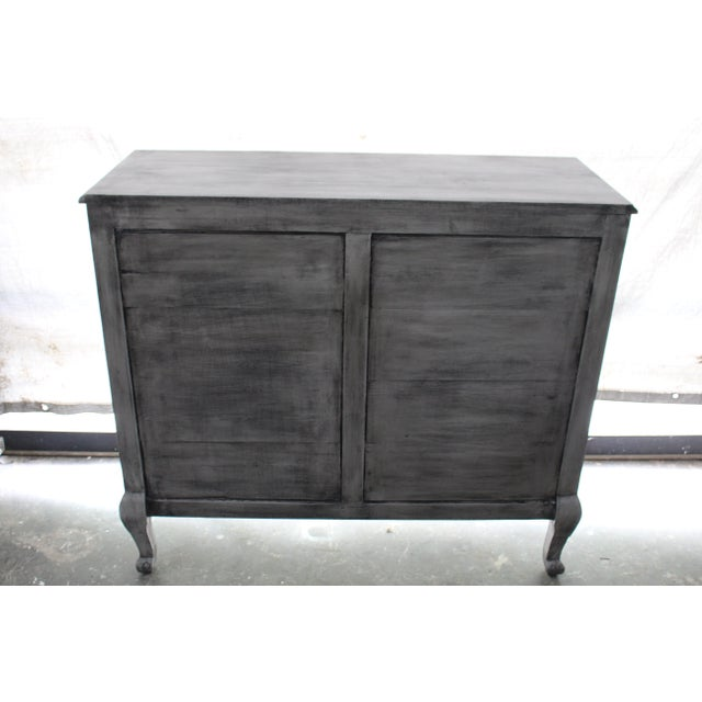 Gray 20th Century French Gray Oak Cabinet For Sale - Image 8 of 9